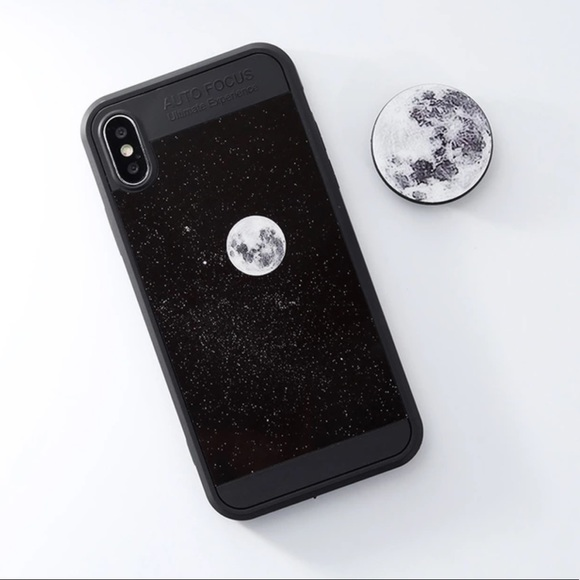 official photos 6d159 25775 Full Moon  Graphics iPhone 7 Case w Pop Socket Boutique
